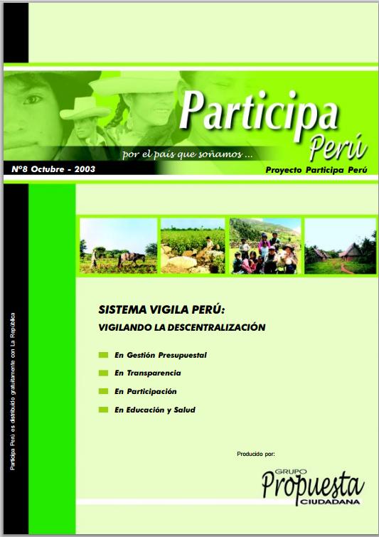 Participa Perú N°8: Vigilando la descentralización