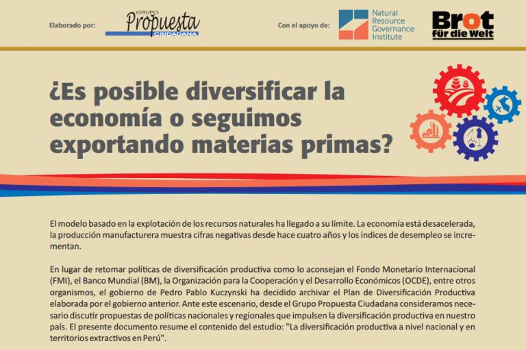Folleto: ¿Es posible diversificar la economía o seguimos exportando materias primas?