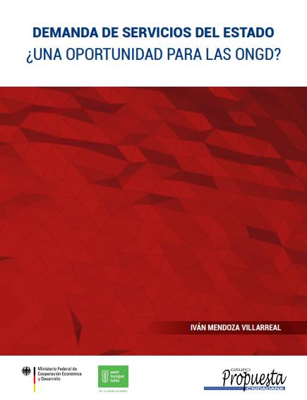 Demanda de servicios del Estado: ¿Una oportunidad para las ONGD?