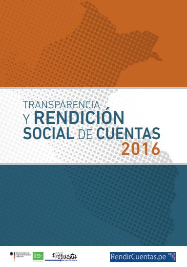 Transparencia y rendición social de cuentas 2016