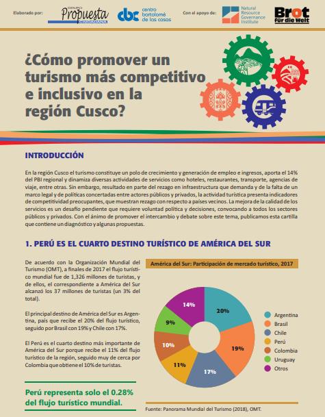 ¿Cómo promover un turismo más competitivo e inclusivo en la región Cusco?
