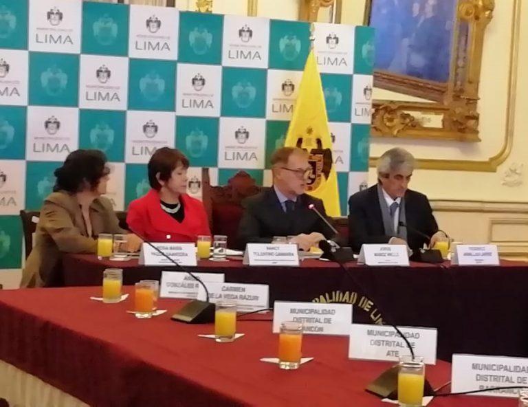 Alcaldes distritales de Lima Metropolitana suscribirán acta de compromiso para prevenir y erradicar la violencia
