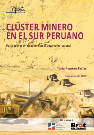 CLÚSTER MINERO EN EL SUR PERUANO. Perspectivas en relación con el desarrollo regional.