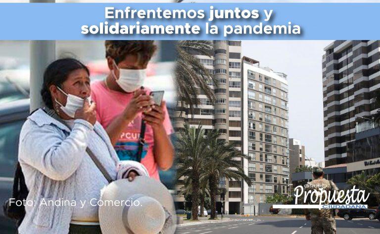 Enfrentemos juntos y solidariamente la pandemia