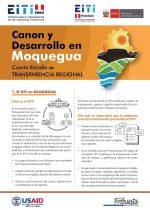 Cartilla: Canon y desarrollo en Moquegua. Cuarto Estudio de Transparencia Regional