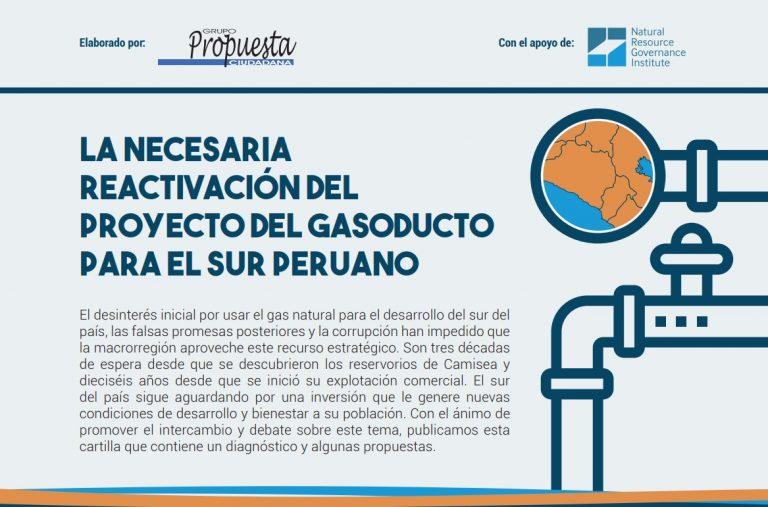 Cartilla: La necesaria reactivación del proyecto del gasoducto para el sur peruano